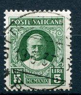 Vaticano - Conciliazione (1929) 5 Lire Used Sass. 12 - Vatican