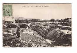 Tunisie Carthage Citernes Romaines De La Malga + Timbre - Tunisie