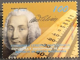 Macedonia,  2019, The 275th Anniversary Of The Death Of Anders Celsius, 1701-1744 (MNH) - Macédoine