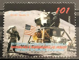 Macedonia,2019, The 50th Anniversary Of The Apollo 11 Mission To The Moon (MNH) - Macédoine