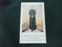 SANTINO HOLY PICTURE IMAGE SAINTE FR. FEDERICO RIGHETTO CIONCHI PADRI SOMASCHI - Religione & Esoterismo