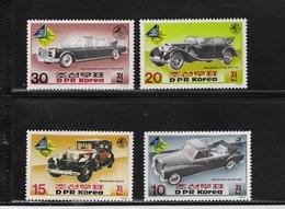 NORTH KOREA, 1985, Sudwest'85 A Sindelfingen, Mercedes 4v (Cars - Automobiles) MNH - Corea Del Norte