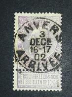 COB N ° 65 Oblitération Anvers Arrivée 02 - 1893-1900 Fine Barbe