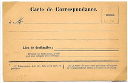 Guerre De 1870 - Carte De Correspondance Vierge Imprimée à Reims (Marne) - Marcophilie (Lettres)