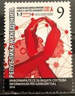 Macedonia, 2018, Fight Against AIDS (MNH) - Macédoine