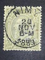 COB N ° 47 Oblitération Nimy 1889 - 1884-1891 Léopold II