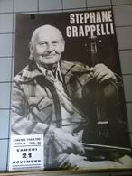 Affiche - Spephane Grappelli Au Cinéma Theatre Familia - Affiches & Posters