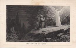 AK Gesegnete Ostern - Betender Mönch Und Engel - 1912 (40505) - Ostern