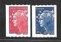 A295  Adhésifs Marianne De Beaujard N°599 Et 600 N++ De Roulette - Frankreich