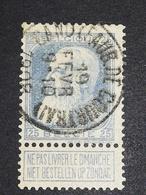 COB N ° 76 Oblitération Gand (Faubourg De Courtrai) 1908 - 1905 Grosse Barbe