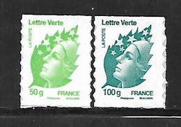 A296  Adhésifs Marianne De Beaujard N°605 Et 606 N++ - Frankreich