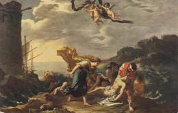 AK Pier Francesco Mola - Hero Und Leander - Amtliche Ausgabe Generaldirektion Königl. Sammlungen Dresden (40508) - Malerei & Gemälde