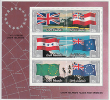 1983 Cook Islands Flags Air Mail Souvenr Sheet  MNH - Cook Islands