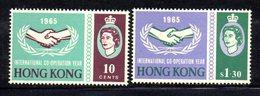 APR119 - HONG KONG 1965,  Yvert N. 214/215  ***  Serie Nuova COOPERAZIONE - Hong Kong (...-1997)