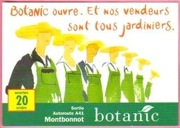 """Carte Postale  """"Cart'Com"""" (2000) - Agence Gallier & Associés - Botanic Ouvre. Et Nos Vendeurs Sont Tous Jardiniers. - Publicité"""