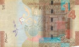 BILLET KOWEIT 1/4 QUARTER DINAR - Koeweit