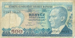 BILLET TURKIYE  500  BANKASI - Turquie
