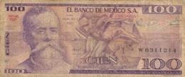 BILLET  EL BANCO DE MEXICO 100 PESOS - Mexiko