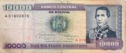 BILLET  BOLIVIE BOLIVIA 10000 PESOS - Bolivie