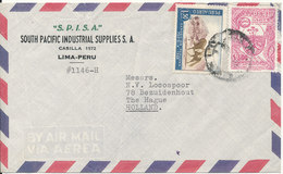 Peru Air Mail Cover Sent To Holland Topic Stamps - Peru