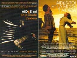 "2 Cartes Postales  ""Cart'Com"" (2000) - Aides-toi Et La Mode T'aidera - Grande Braderie - Mode"