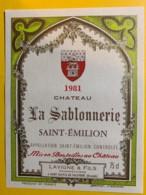10215 -  Château La Sablonnerie 1981  Saint Emilion - Bordeaux