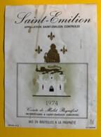 10222 -  Saint Emilion  1974 Comte De Malet Roquefort - Bordeaux
