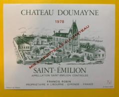 10232 - Château  Doumayne 1978 Saint Emilion - Bordeaux