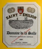 10238 - Domaine De La Salle 1967 Saint Emilion - Bordeaux