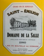 10240 - Domaine De La Salle 1980 Saint Emilion - Bordeaux