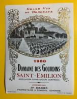 10243 - Domaine Des Gourdins  1980  Saint Emilion - Bordeaux