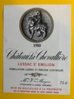 10258 - Château La Chevallière 1980 Lussac St Emilion - Bordeaux