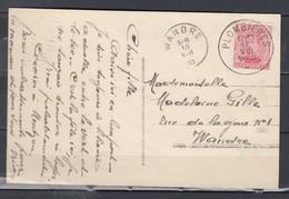 Postkaart Van Plombieres Naar Wandre - 1915-1920 Albert I