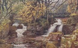 Postcard Glen Lyn Lynmouth Artwork By A R Quinton [ Salmon ] My Ref  B12984 - Quinton, AR