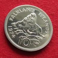 Falkland  Islands 10 Pence 1974   Malvinas Malwinen Wºº - Falkland Islands