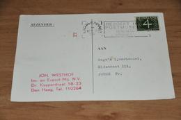 86-   BRIEFKAART MET BEDRIJFSSTEMPEL JOH. WESTHOF, IM- EN EXPORT MIJ. N.V. - DEN HAAG - 1961 - Andere