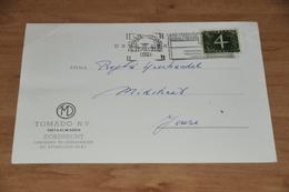 90-    BEDRIJFSKAART, TOMADO N.V. METAALWAREN - DORDRECHT - 1961 - Andere