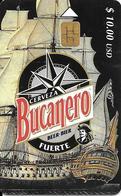 CARTE PUCE-CUBA-ETECSA--10USD-BIERRE BUCANERO-UTILISE-TBE - Cuba