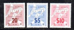 APR136 - HONG KONG 1991, Segnatasse Serie Yvert N. 25a/29a  ***  MNH - Hong Kong (...-1997)