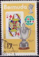 Bermuda 1975, World Bridge Championships, 17c, Sc#313, Used - Bermuda
