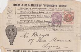 LETTER  ~  SAXON & CO, S  ~~  1 PENNY - 1840-1901 (Viktoria)