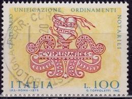 Italy, 1975, United Legal Groups, 100L, Sc#1197, Used - 6. 1946-.. Republic