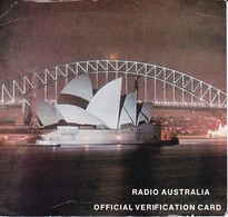 QSL-Card - Official Verification Card - Radio Australia - Sydney Opera - 1973 (40520) - Radio