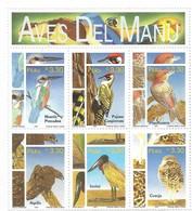 PERU 1997 NATIONAL PARK FAUNA BIRDS FROM MANU MINIATURE SHEET MINT NEVER HINGED - Perú