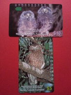 NORFOLK ISLAND NOR-M-4+5 Boobook Owl - Hybrid Owlets Chouette Hibou MINT NEUVE 7000ex (CA0417 - Norfolk Eiland