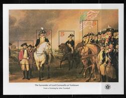 US 1976 S/S American Revolution Issue 13c Surrender Of Cornwallis At Yorktown,Scott # 1686,VF MNH** (RN-8) - George Washington