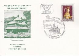 FDC Weihnachtsmarke 1977 - Sonderstempel Ukrainischer Briefmarkenbsammlerverein - FDC