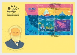 H01 Hungary 2019 For Youth 2019 - Jules Verne's Captain Nemo FDC - Nuevos