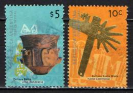 ARGENTINA - 2000 - URNA FUNERARIA CULTURA BELEN E ASCIA CERIMONIALE - CULTURA SANTA MARIA - USATI - Argentina