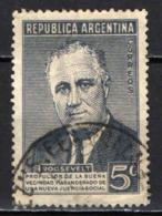 ARGENTINA - 1946 - PRESIDENTE AMERICANO ROOSEVELT - USATO - Usati